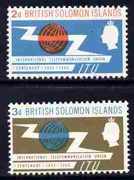 Solomon Islands 1965 ITU set of 2 unmounted mint, SG 214-5