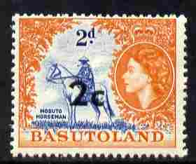 Basutoland 1961 Decimal Surcharge 2c on 2d (Horseman) unmounted mint SG 60