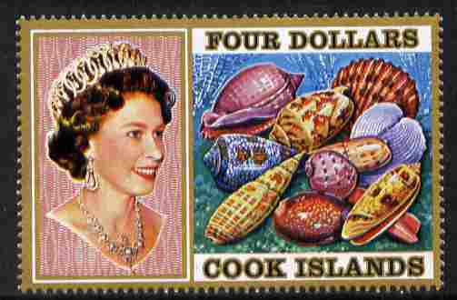 Cook Islands 1974 Sea Shells $4 definitive unmounted mint SG 484