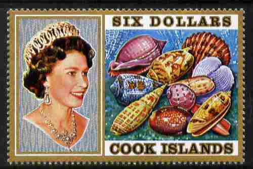Cook Islands 1974 Sea Shells $6 definitive unmounted mint SG 485