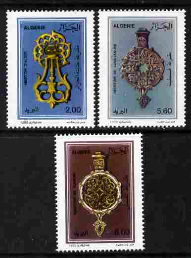 Algeria 1993 Door Knockers perf set of 3 unmounted mint SG 1117-19