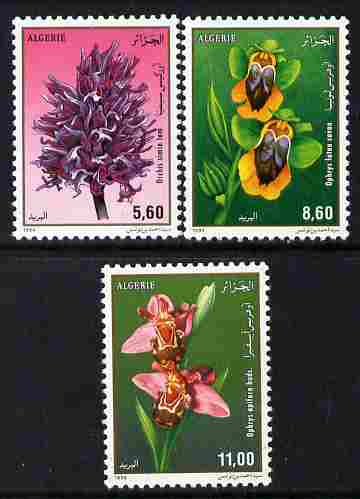 Algeria 1994 Orchids perf set of 3 unmounted mint SG 1140-42