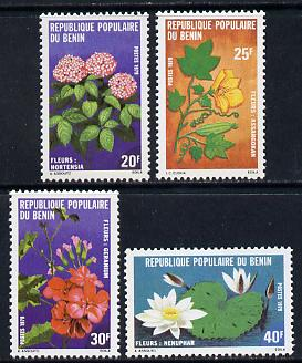 Benin 1979 Flowers set of 4 unmounted mint, SG 736-9