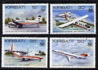 Kiribati 1982 Air Tungaru Airline set of 4 unmounted mint, SG 179-82 (gutter pairs available - price x 2)
