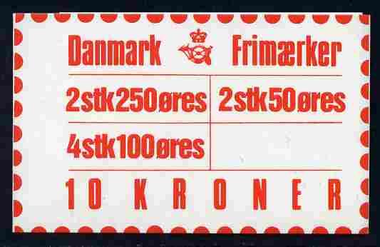 Booklet - Denmark 1983 Numerals & Margrethe 10kr booklet complete & fine SG SB 101