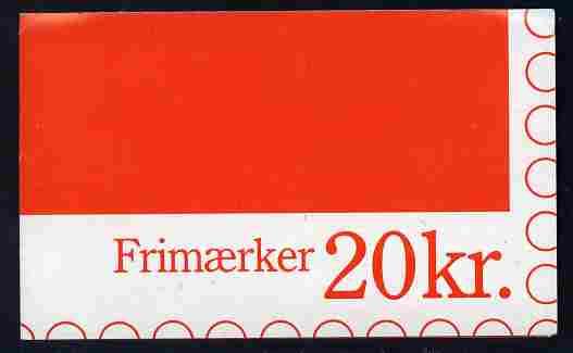 Booklet - Denmark 1990 Numerals & Margrethe 20kr booklet complete & fine SG SB 134