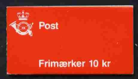 Booklet - Denmark 1990 Numerals & Margrethe 10kr booklet complete & fine SG SB 133