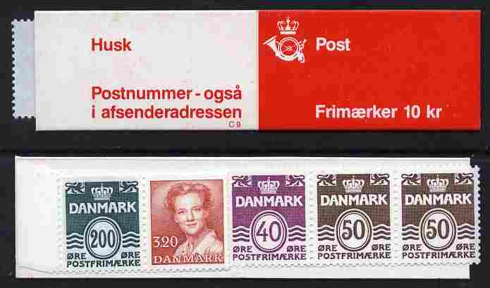 Booklet - Denmark 1989 Numerals & Margrethe 10kr booklet complete & fine SG SB 127