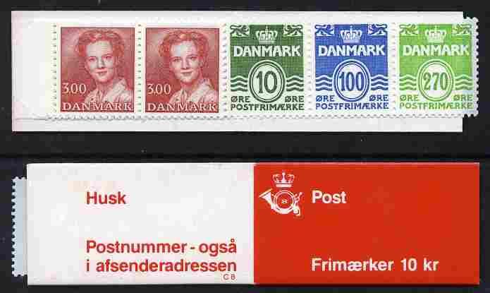 Booklet - Denmark 1988 Numerals & Margrethe 10kr booklet complete & fine SG SB 122