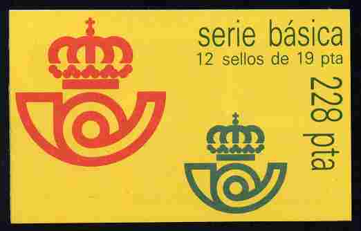 Booklet - Spain 1987 Juan Carlos 228p booklet complete and fine, SG SB4