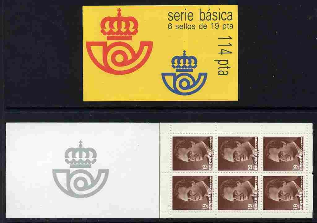 Booklet - Spain 1987 Juan Carlos 114p booklet complete and fine, SG SB3