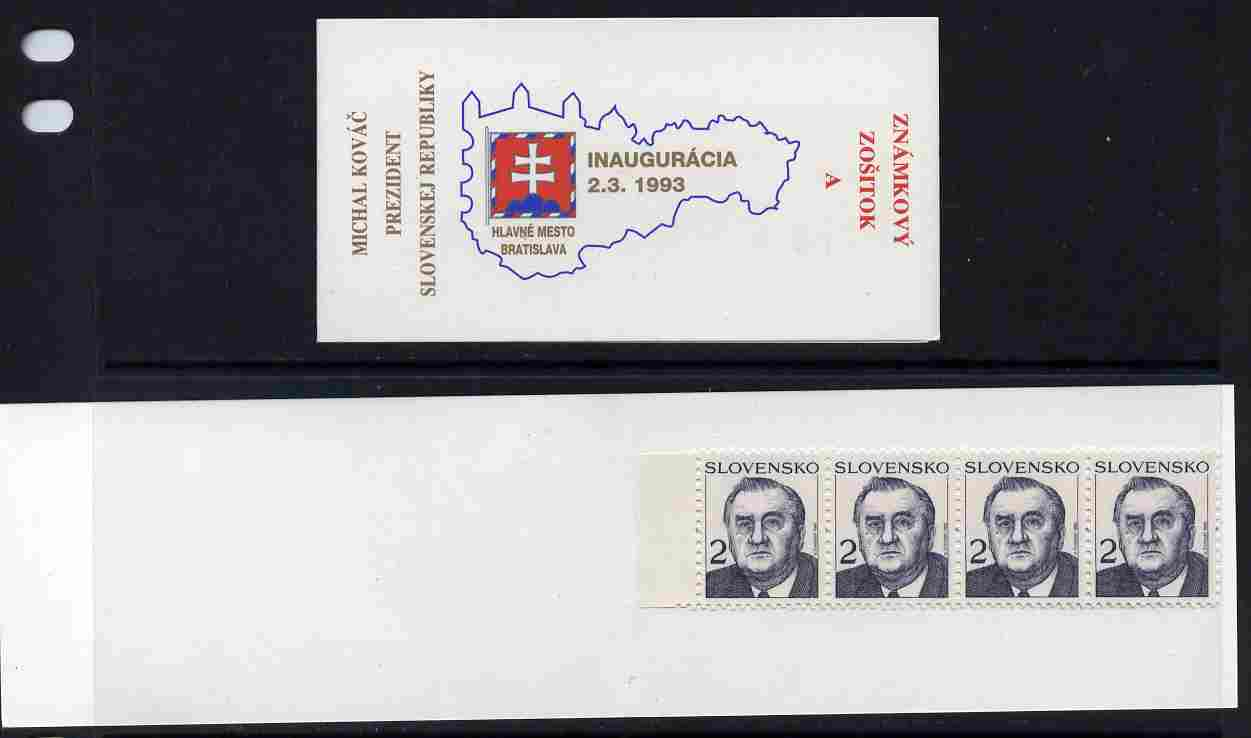 Booklet - Slovakia 1993 President Michal Kovac 8k booklet (A) complete and fine SG SB1