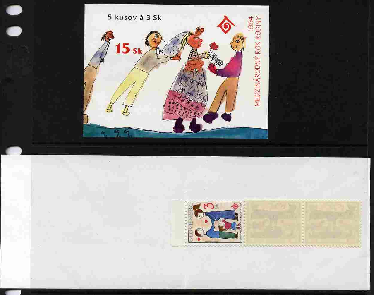 Booklet - Slovakia 1994 International Year of the Family 15k booklet complete and fine SG SB4