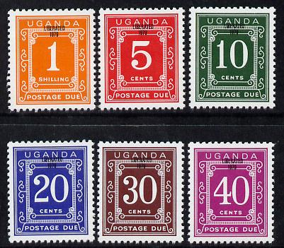 Uganda 1979 Postage Due set of 6 overprinted Liberated 1979 unmounted mint, SG D18-23