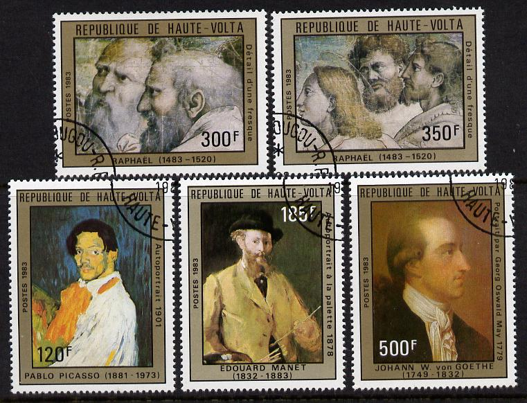 Upper Volta 1983 Celebrities' Anniversaries perf set of 5 cto used SG 687-91