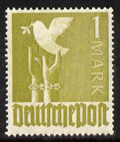 Germany 1947 Dove of Peace 1m olive-green unmounted mint, SG 945