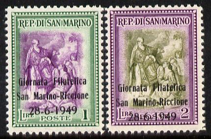 San Marino 1949 Stamp Day set of 2 unmounted mint SG 388-89