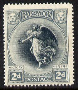 Barbados 1920-21 Victory MCA 2d black & grey unmounted mint SG 204