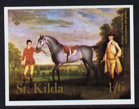 St Kilda 1969 Painting of Horses 1s6d imperf unmounted mint