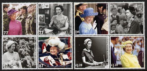 Great Britain 2012 The Diamond Jubilee set of 8 (4 se-tenant pairs) unmounted mint