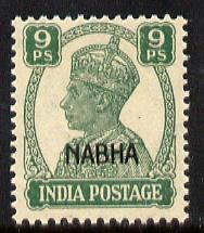 Indian States - Nabha 1941-45 KG6 9p green unmounted mint SG 107