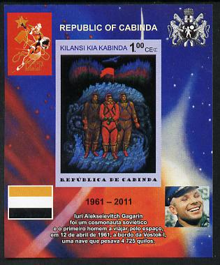 Cabinda Province 2011 Tribute to Yuri Gagarin - Paintings #12 imperf souvenir sheet  unmounted mint