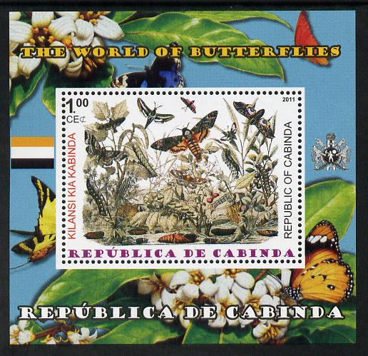 Cabinda Province 2011 The World of Butterflies #1 perf souvenir sheet  unmounted mint