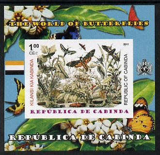 Cabinda Province 2011 The World of Butterflies #1 imperf souvenir sheet  unmounted mint