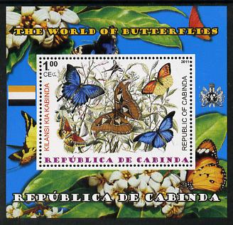 Cabinda Province 2011 The World of Butterflies #2 perf souvenir sheet  unmounted mint