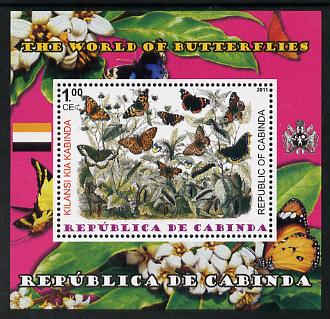 Cabinda Province 2011 The World of Butterflies #3 perf souvenir sheet  unmounted mint