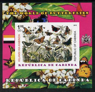Cabinda Province 2011 The World of Butterflies #3 imperf souvenir sheet  unmounted mint