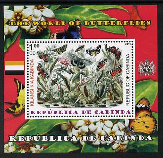 Cabinda Province 2011 The World of Butterflies #4 perf souvenir sheet  unmounted mint