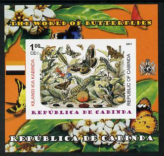 Cabinda Province 2011 The World of Butterflies #5 imperf souvenir sheet  unmounted mint