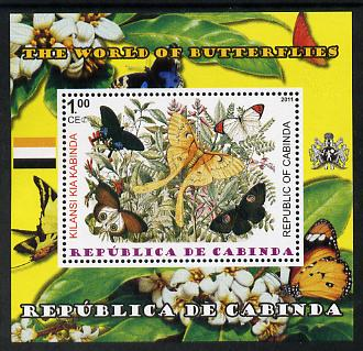 Cabinda Province 2011 The World of Butterflies #7 perf souvenir sheet  unmounted mint