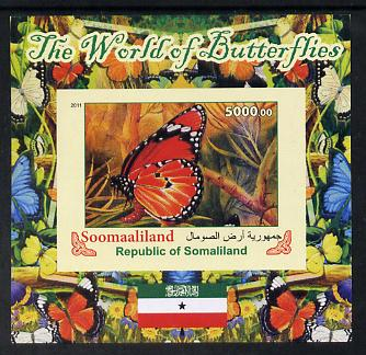 Somaliland 2011 The World of Butterflies #2 imperf souvenir sheet  unmounted mint