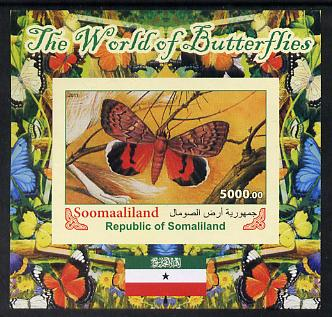 Somaliland 2011 The World of Butterflies #3 imperf souvenir sheet  unmounted mint