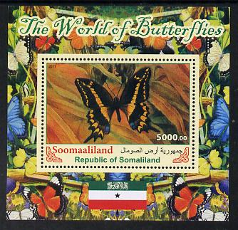 Somaliland 2011 The World of Butterflies #4 perf souvenir sheet  unmounted mint
