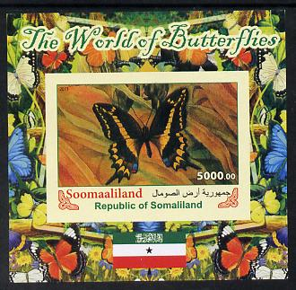 Somaliland 2011 The World of Butterflies #4 imperf souvenir sheet  unmounted mint