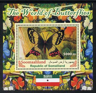 Somaliland 2011 The World of Butterflies #5 perf souvenir sheet  unmounted mint