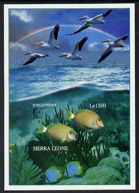 Sierra Leone 1995 Singapore '95 Stamp Exhibition - Marine Life imperf m/sheet #1 unmounted mint, as SG MS 2365a