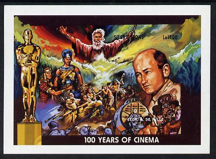 Sierra Leone 1996 Centenary of the Cinema imperf m/sheet #1 Cecil B De Mille unmounted mint, as SG MS 2468a