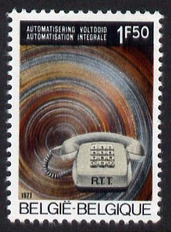 Belgium 1971 Inauguration of Automatic Telephone Service 1f50 unmounted mint SG 2183