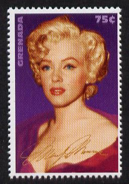 Grenada 1995 Entertainment Legends - Marilyn Monroe 75c unmounted mint SG 2932