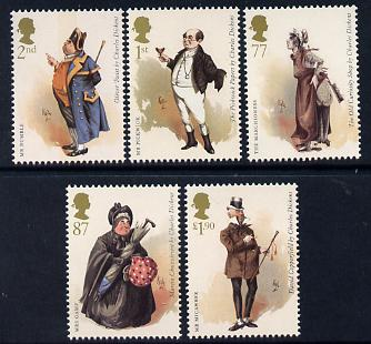 Great Britain 2012 Charles Dickens perf set of 5 values unmounted mint