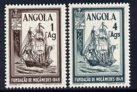 Angola 1949 Centenary of Founding of Mozambique perf set of 2 unmounted mint SG 450-51