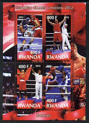 Rwanda 2012 London Olympic Games - Boxing perf sheetlet containing 4 values unmounted mint