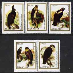 Abkhazia - Birds #2 perf set of 5 unmounted mint