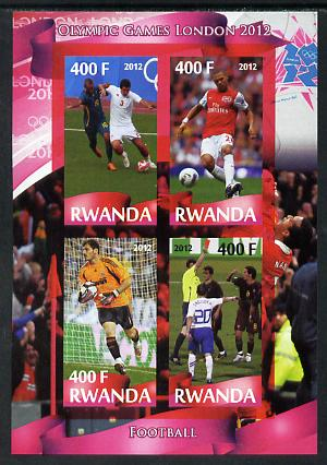 Rwanda 2012 London Olympic Games - Football imperf sheetlet containing 4 values unmounted mint