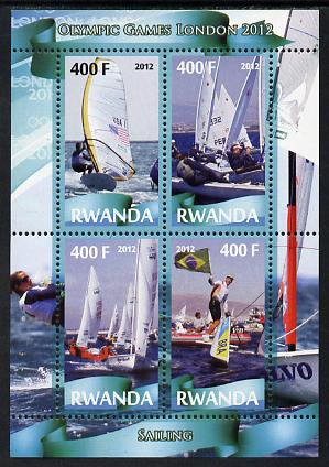 Rwanda 2012 London Olympic Games - Sailing perf sheetlet containing 4 values unmounted mint