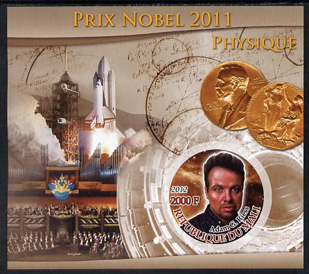 Mali 2012 Nobel Prize for Physics - Adam G Riess imperf souvenir sheet containing circular stamp unmounted mint